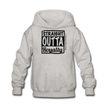 Straight Outta Royalty Kids' Hoodie - heather gray