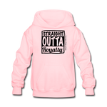 Straight Outta Royalty Kids' Hoodie - pink