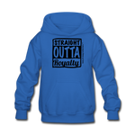 Straight Outta Royalty Kids' Hoodie - royal blue