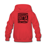Straight Outta Royalty Kids' Hoodie - red