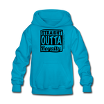 Straight Outta Royalty Kids' Hoodie - turquoise