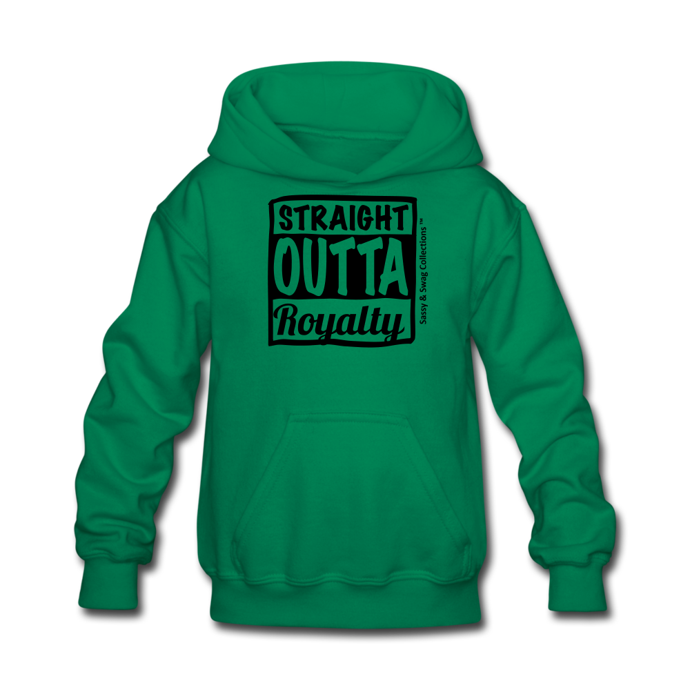 Straight Outta Royalty Kids' Hoodie - kelly green