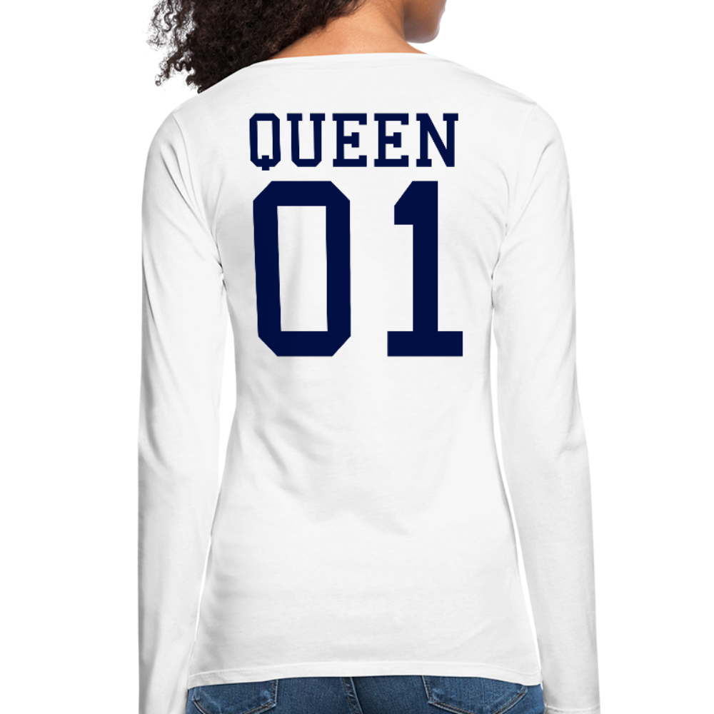 Queen 01 Women's Premium Long Sleeve T-Shirt - white