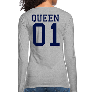 Queen 01 Women's Premium Long Sleeve T-Shirt - heather gray