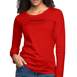 Queen 01 Women's Premium Long Sleeve T-Shirt - red