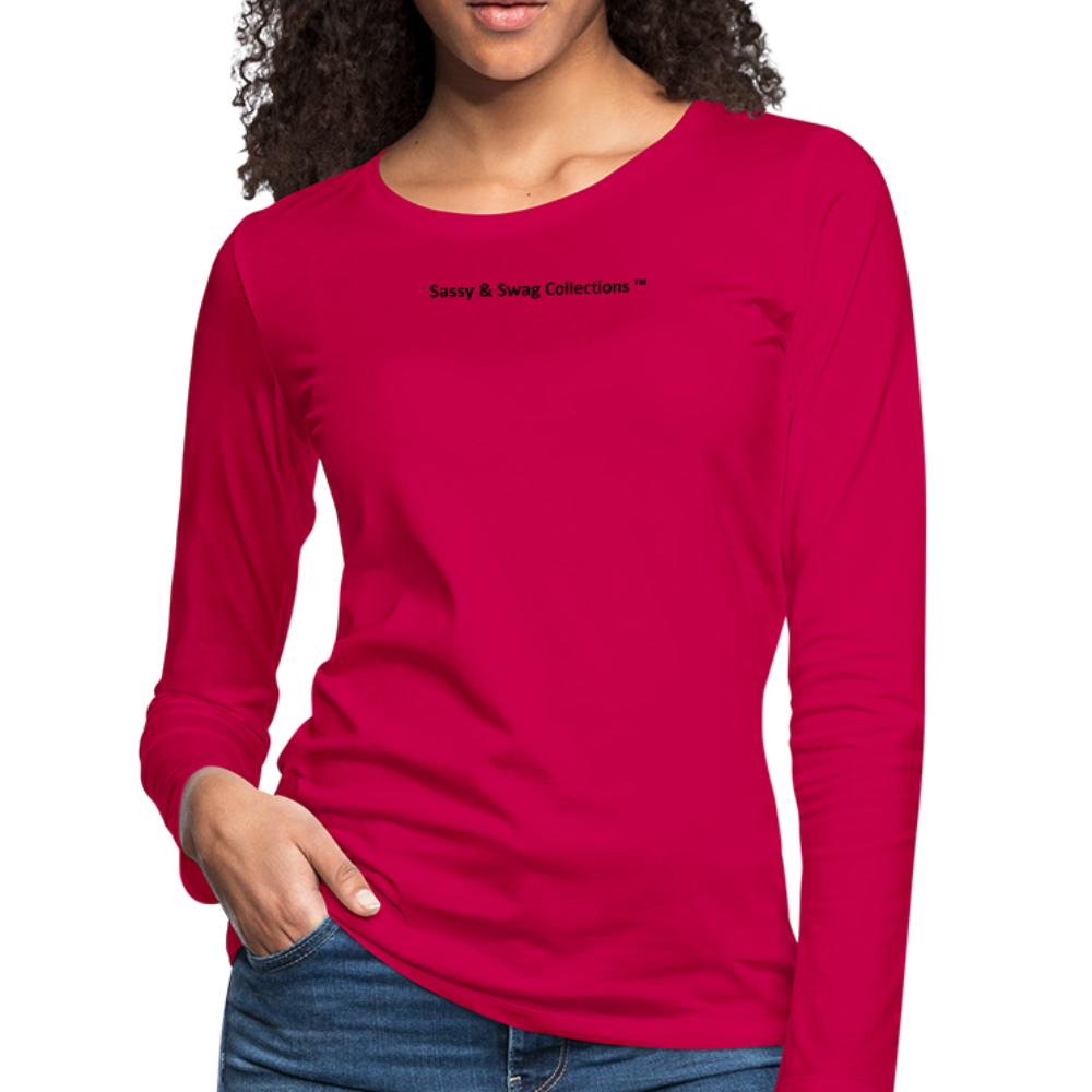 Queen 01 Women's Premium Long Sleeve T-Shirt - dark pink