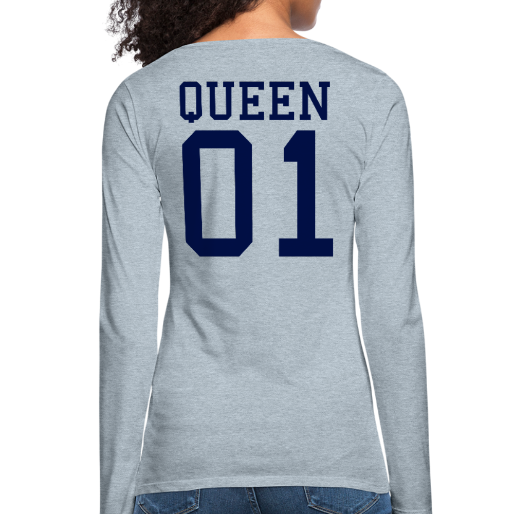 Queen 01 Women's Premium Long Sleeve T-Shirt - heather ice blue