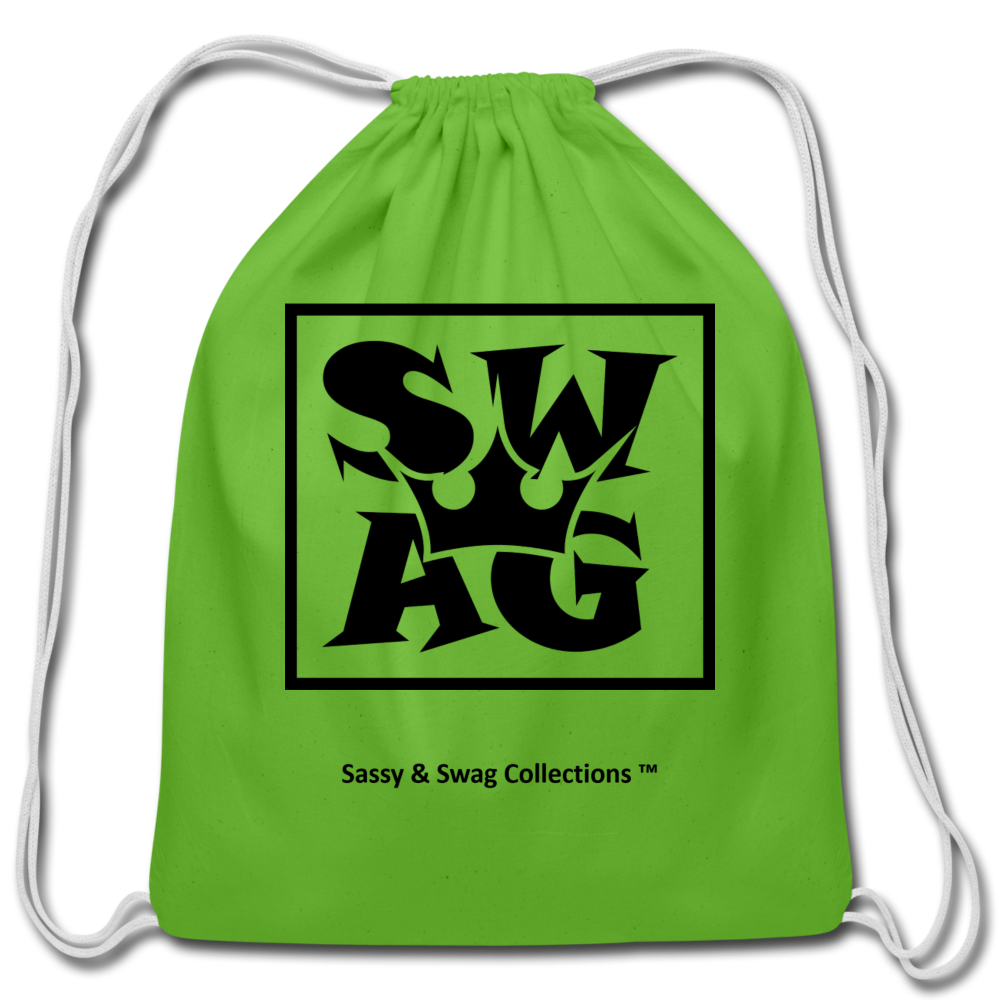Swag King Cotton Drawstring Bag - clover