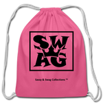 Swag King Cotton Drawstring Bag - pink