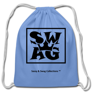 Swag King Cotton Drawstring Bag - carolina blue