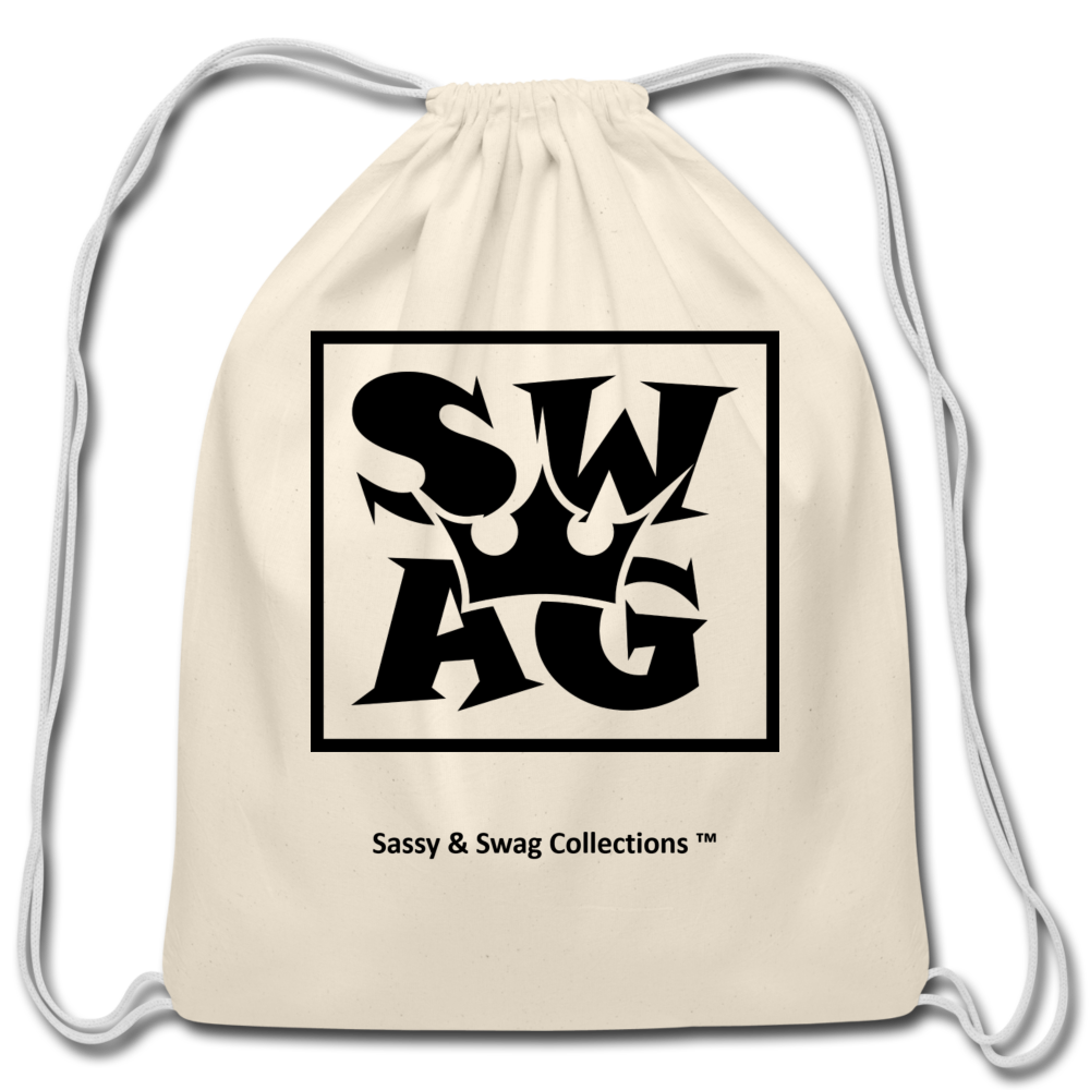 Swag King Cotton Drawstring Bag - natural