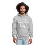 Saved Sanctified and Swag Men's Hoodie - heather gray