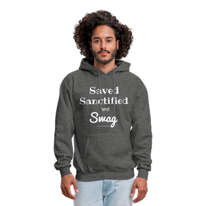 Saved Sanctified and Swag Men's Hoodie - charcoal gray
