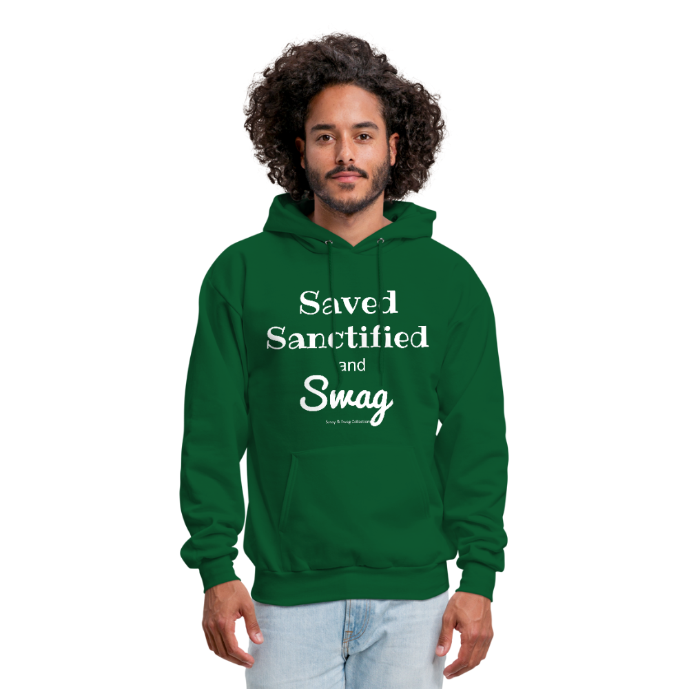 Saved Sanctified and Swag Men's Hoodie - forest green