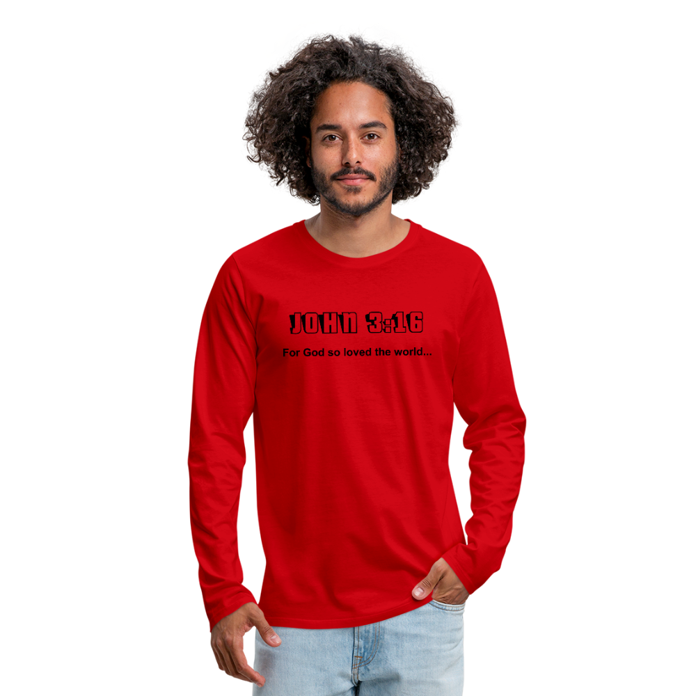 John 3:16 Men's Premium Long Sleeve T-Shirt - red