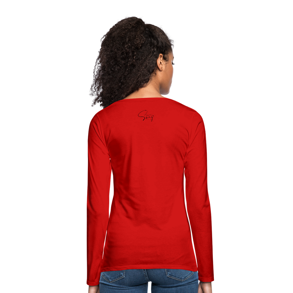 #teamsassyandswag Women's Premium Long Sleeve T-Shirt - red