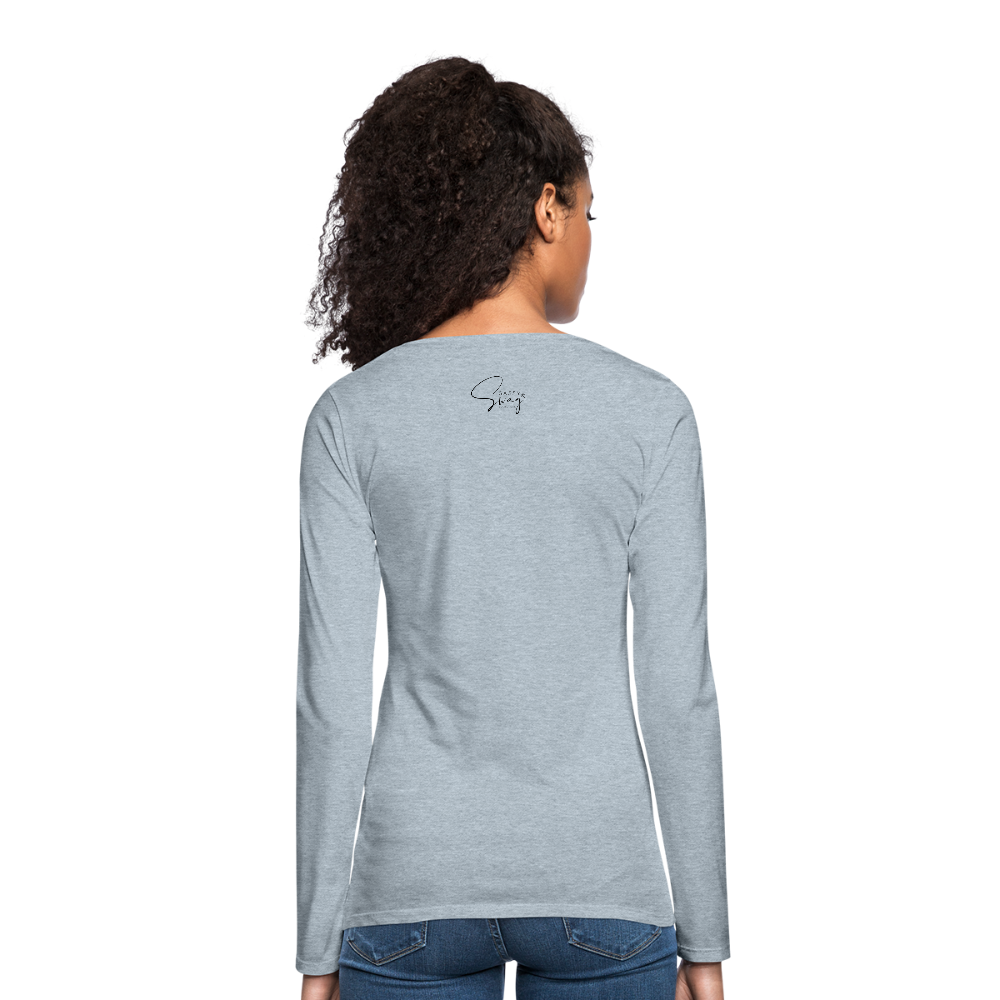 #teamsassyandswag Women's Premium Long Sleeve T-Shirt - heather ice blue