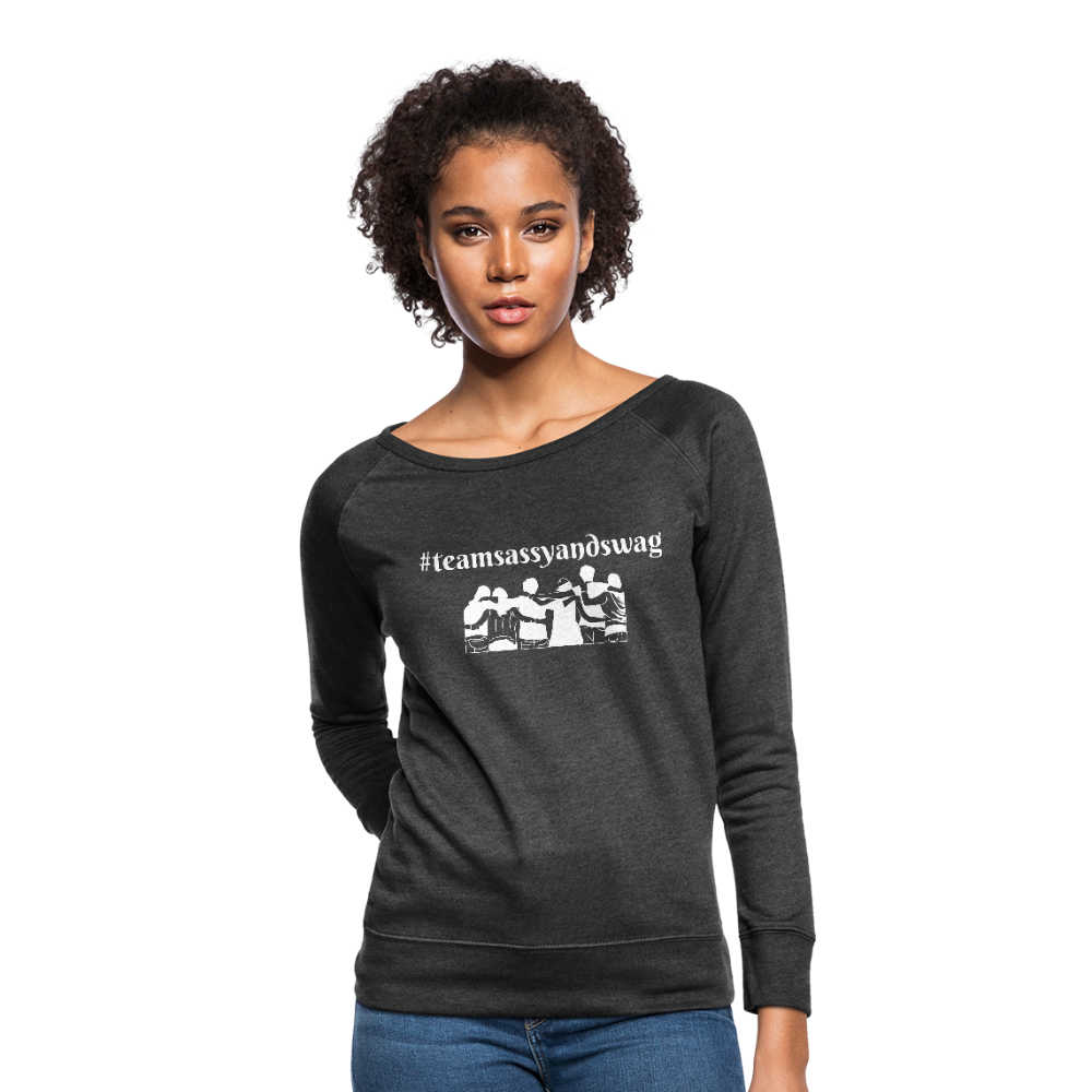 #teamsassyandswag Women's Crewneck Sweatshirt - heather black