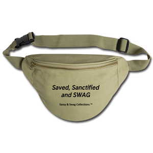 Saved, Sanctified and SWAG Fanny Pack - khaki