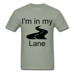 I'm In My Lane Hanes Adult Tagless T-Shirt - stonewash green