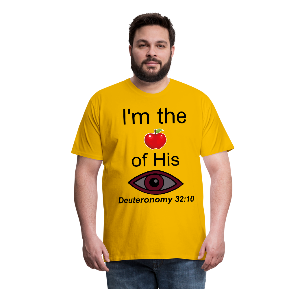 I'm the Apple of His Eye Men's Premium T-Shirt - sun yellow