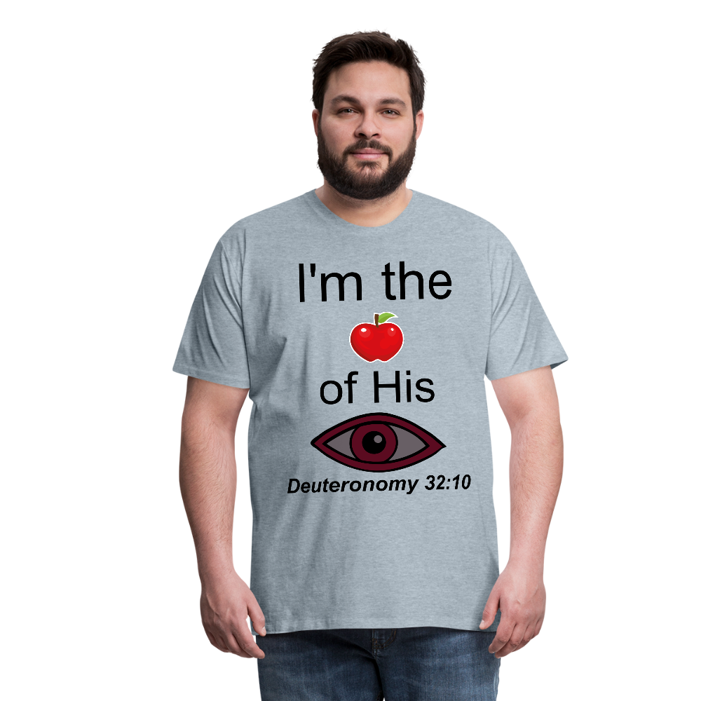 I'm the Apple of His Eye Men's Premium T-Shirt - heather ice blue