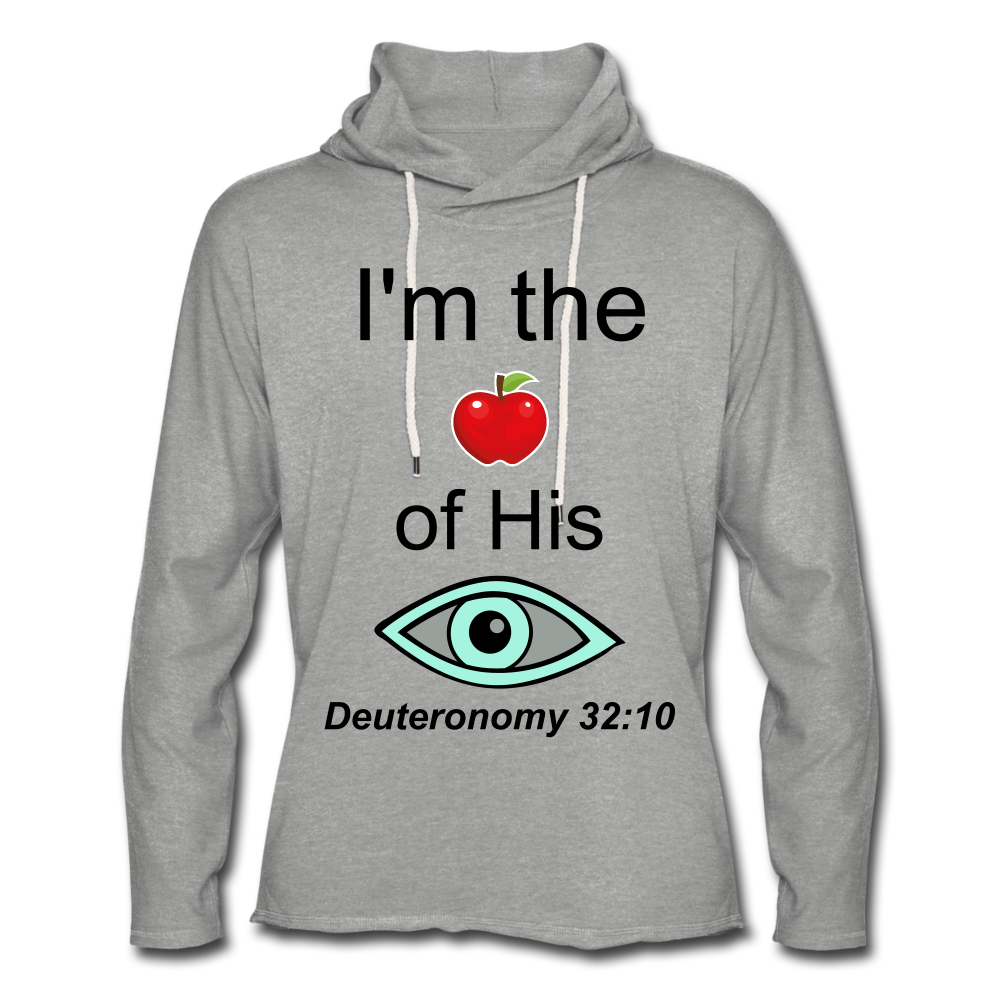 I'm the Apple of His Eye Unisex Lightweight Terry Hoodie - heather gray