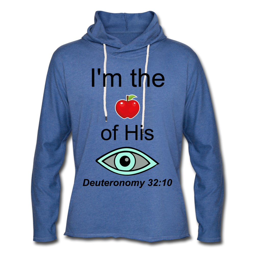 I'm the Apple of His Eye Unisex Lightweight Terry Hoodie - heather Blue