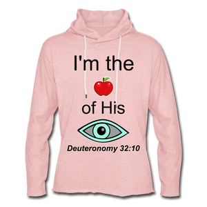 I'm the Apple of His Eye Unisex Lightweight Terry Hoodie - cream heather pink
