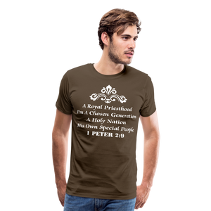 A Royal Priesthood Men's Premium T-Shirt - noble brown