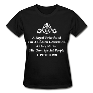 A Royal Priesthood Gildan Ultra Cotton Ladies T-Shirt - black