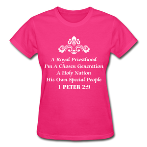 A Royal Priesthood Gildan Ultra Cotton Ladies T-Shirt - fuchsia
