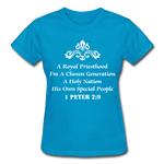 A Royal Priesthood Gildan Ultra Cotton Ladies T-Shirt - turquoise