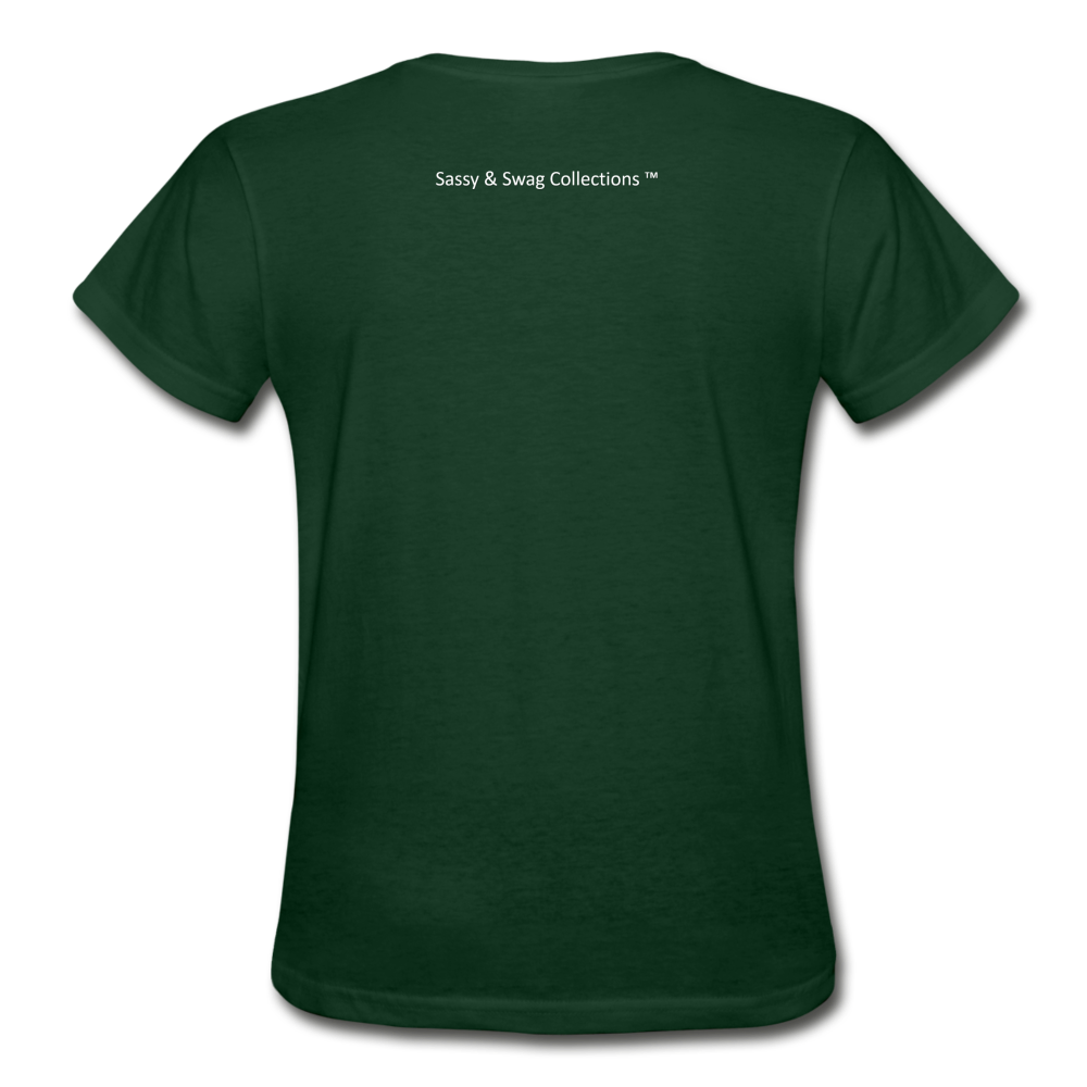 My Husband's the Head Gildan Ultra Cotton Ladies T-Shirt - forest green