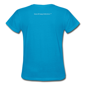 My Husband's the Head Gildan Ultra Cotton Ladies T-Shirt - turquoise