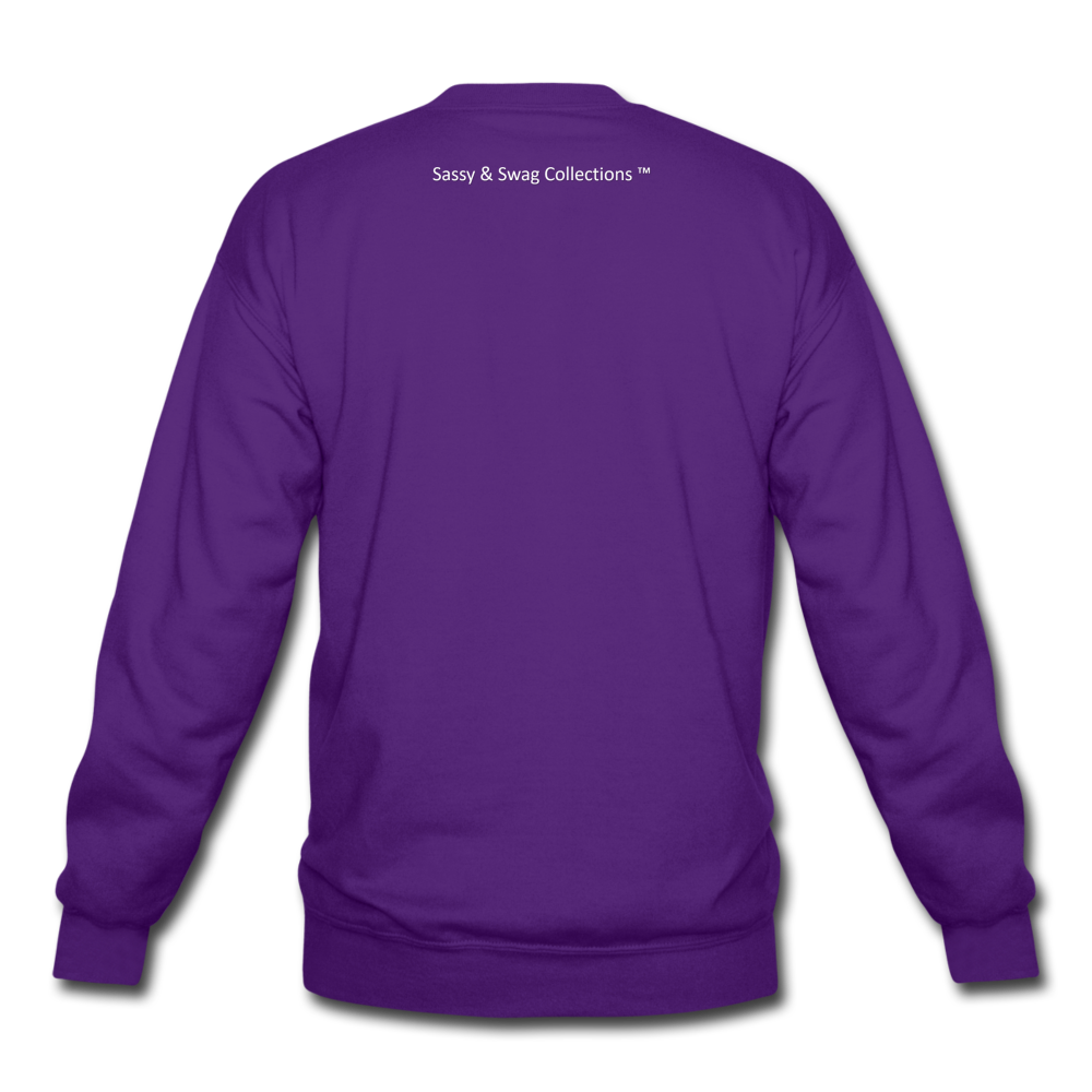 I'm the Boss Crewneck Sweatshirt - purple