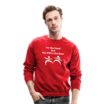 My Wife's the Boss Crewneck Sweatshirt - red