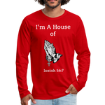 I'm a House of Prayer Men's Premium Long Sleeve T-Shirt - red