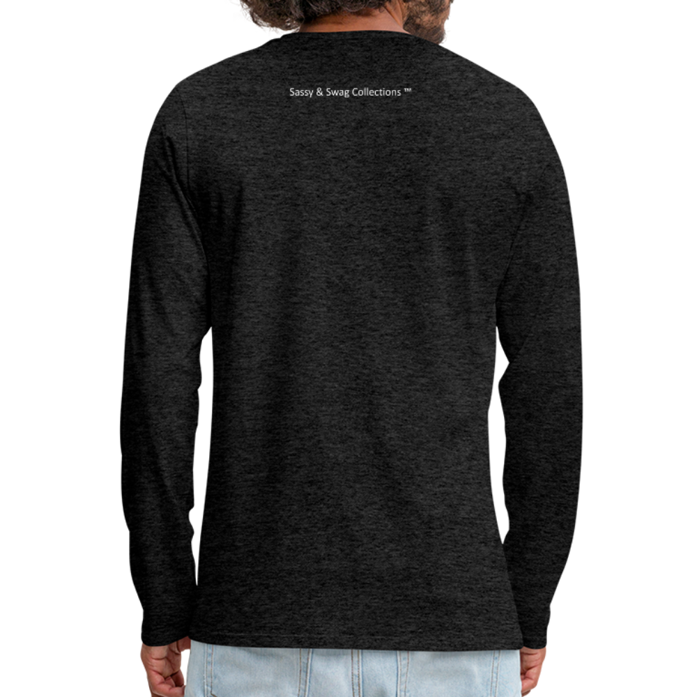I'm a House of Prayer Men's Premium Long Sleeve T-Shirt - charcoal gray