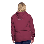 I'm Sweet with a Splash of Sassy Women's Premium Hoodie - burgundy