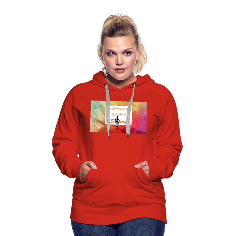 I'm Sweet with a Splash of Sassy Women's Premium Hoodie - red