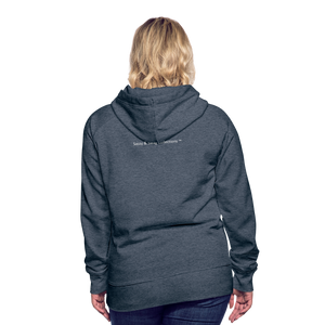 I'm Sweet with a Splash of Sassy Women's Premium Hoodie - heather denim
