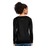 I'm Sweet with a Splash of Sassy Women's Crewneck Sweatshirt - black