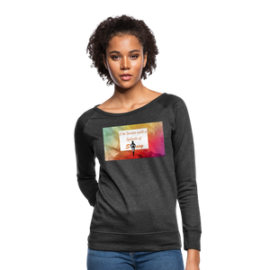 I'm Sweet with a Splash of Sassy Women's Crewneck Sweatshirt - heather black