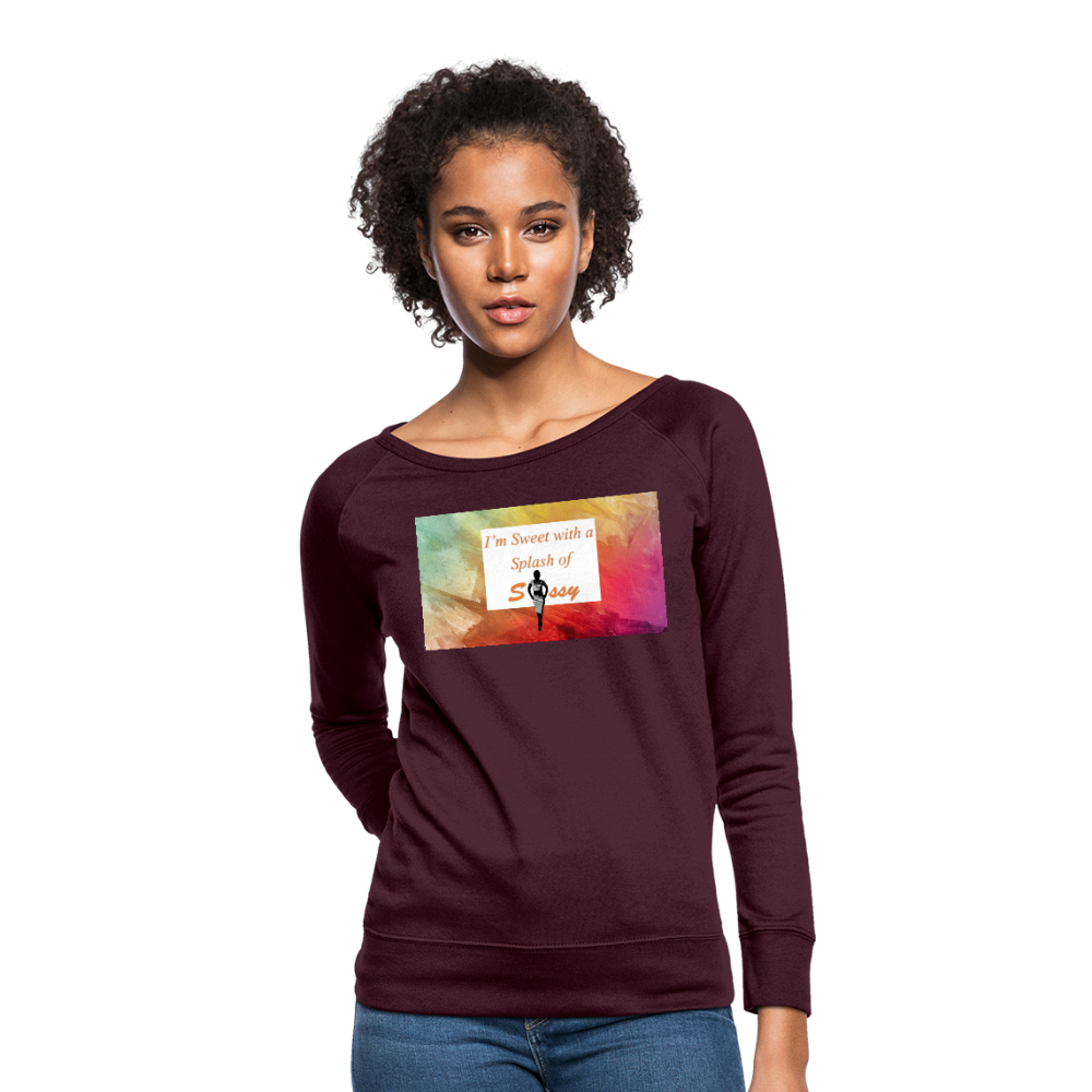 I'm Sweet with a Splash of Sassy Women's Crewneck Sweatshirt - plum