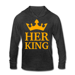 Her King Tri-Blend Hoodie Shirt - heather black
