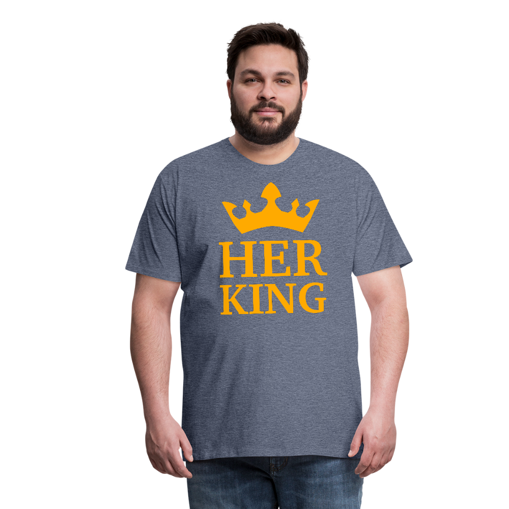 Her King Men's Premium T-Shirt - heather blue