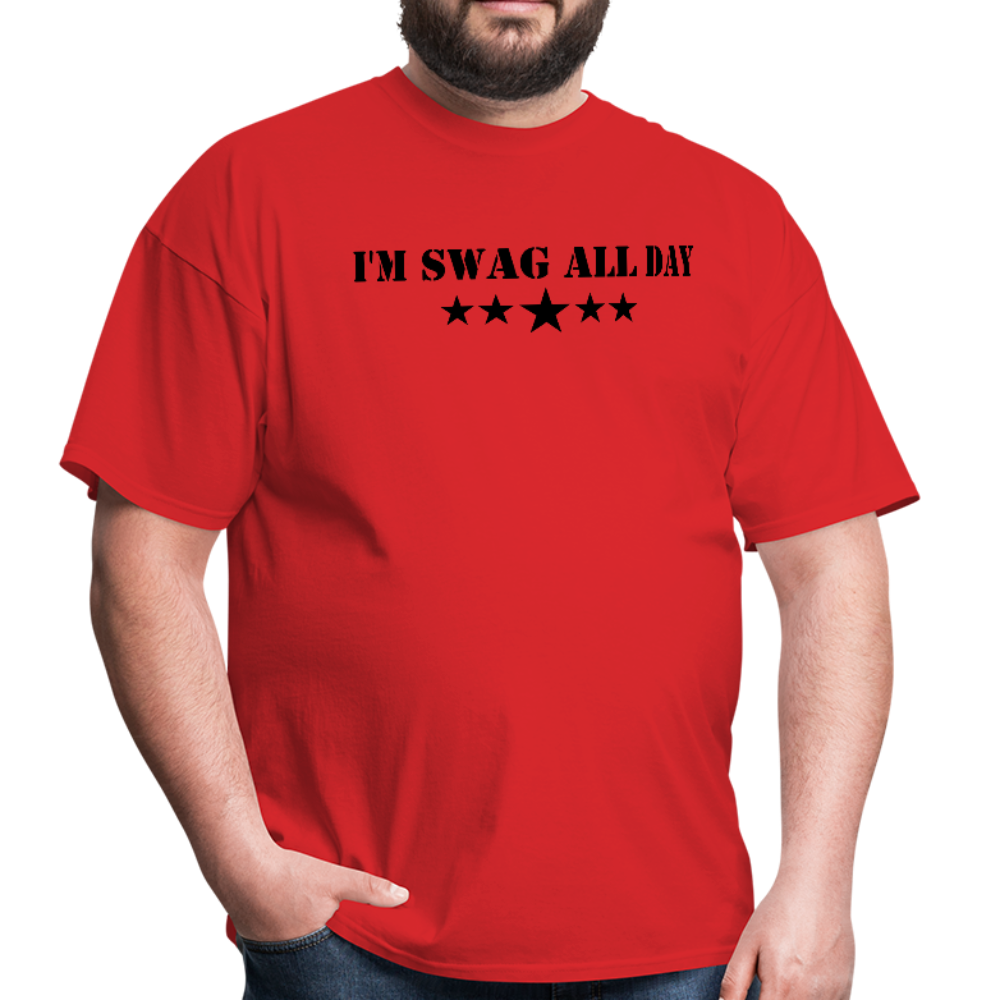 I'm Swag All Day Men's T-Shirt - red