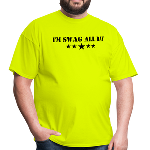 I'm Swag All Day Men's T-Shirt - safety green