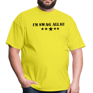 I'm Swag All Day Men's T-Shirt - yellow